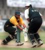 Sahid Nazir of Habib Bank stumped by KRL's wicket keeper Nadeem Abbasi, Gadafi Stadium Lahore. 13  April 2000.