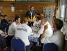 Hampshire players enjoy lunch at the Nursery Ground on a practise day