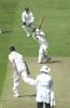 Richard Blakey drives Martin Bicknell for a lovely 4 runs