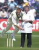 Steve Kirby bowling study, Burgess the umpire.