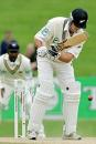 James Franklin is bowled by Lasith Malinga, New Zealand v Sri Lanka, 1st Test, Napier, April 7, 2005