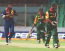 Shahriar Hossain departs after being caught by De Silva off the bowling of Vaas, Asia Cup 1999/00, Bangladesh v Sri Lanka, Bangabandhu National Stadium, Dhaka