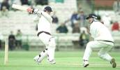 Wood pulls the ball as Dowman takes evasive action, PPP healthcare County Championship Division One, 2000, Lancashire v Derbyshire, Old Trafford, Manchester, 31May-03June 2000.