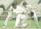 Graham Lloyd sweeps Fisher, PPP healthcare County Championship Division One, 2000, Lancashire v Yorkshire, Old Trafford, Manchester, 29Jun-02Jul 2000 (Day 1).