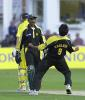 Saqlain Mushtaq and Rashid Latif are overjoyed at the dismissal of Gilchrist