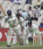 De Silva pushes forward in his last Test innings in England, England v Sri Lanka, third Test, Old Trafford, 17 Jun 2002