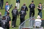 Hampshire fielders piped onto the ground