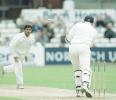Sourav Ganguly clean bowls Steve Titchard, PPP healthcare County Championship Division One, 2000, Derbyshire v Lancashire, County Ground, Derby, 07-10 July 2000 (Day 1).