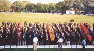 Teams line up at opening ceremonies, ICC Trophy 2001, Toronto