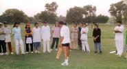 Wasim Hassan Raja gives cricket tips to PWCA players, Coaching & Training Centre, Lahore