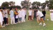 Wasim Hassan Raja helping train PWCA players, Coaching & Training Center, Lahore