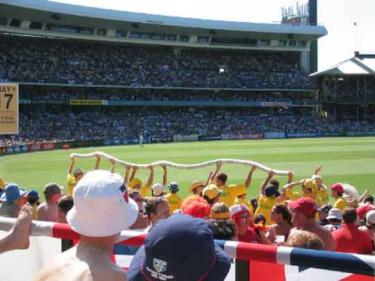 Barmy Army Christmas and New Year Festivities at the SCG