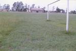 The lush green turf at the Indra Gandhi Stadium, Orai