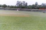 The view of the ground at the KD Singh Babu Stadium, Lucknow