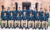 Pakistan Under-19 team to Sri Lanka group photograph, 2003-04<br>Front (L-R): Mohammad Altaf, Salman Qadir, Shahid Yousuf (vice-captain), Sultan Rana (manager), Khalid Latif (captain), Aaqib Javed (coach), Afaq Raheem.<br>Back (L-R): Jahangir Mirza, Shahid Siddiq, Yasir Arafat, Nasir Jamshed, Aamer Yousuf, Riaz Afridi, Adeel Malik, Naeem Ahmed (wicketkeeper) and Hidayatullah Khan.
