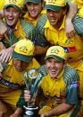 The Australian team with the Videocon Cup, Australia v Pakistan, Videocon Cup, Final, August 28, 2004
