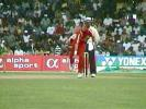 Andy Whittall bowling, India v Zimbabwe (2nd ODI), Coca-Cola Singapore Challenge, 1999-2000, Kallang Ground, Singapore, 4 Sep 1999.