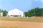 A view of the action from the pavilion at the Vellyani Agricultural College Ground