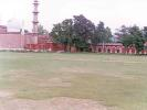The Aligarh Muslim University Ground with the colonial buildings as the backdrop