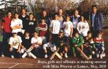 Boys, girls and officials at training session with Mike Procter at Lomas, May 2000