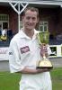 Simon Widdup celebrating the CricInfo Championship success