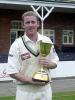 Anthony McGrath celebrating the CricInfo Championship success