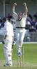 Stephen Kirby has just gained the wicket of Richard Clinton in the Essex second innings, Scarborough 14th Sep 2001