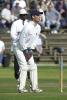 England prospect Jamie Foster at the stumps, Scarborough 14th Sep 2001