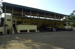 The main stand at the Welagedara Stadium in Sri Lanka