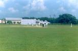 A match in progress at the picturesque Polytechnic Institute ground at Agartala