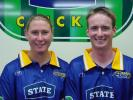 State Otago Sparks player Rowan Milburn and State Otago Volts player Robbie Lawson model the new uniforms for the 2001/02 season. 4 October 2001.