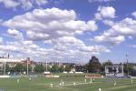 24 Oct 2001: General view of play, during day one of the Pura Cup Match between Victoria and Queensland, played at Punt Road Oval, Melbourne, Australia.