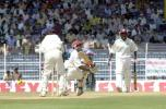 Chanderpaul sweeps as Hooper looks on