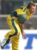 Brad Wiliams bowls, Australia v New Zealand, Faridabad, October 29, 2003