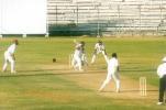 S Sharath captured in his follow through after cover driving Sreekumar Nair, Ranji Trophy South Zone League 1999/00, Tamil Nadu v Kerala at MA Chidambaram Stadium, Chennai, 15-18 Nov 1999