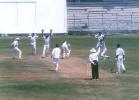 S Shanker strives to regain his crease but he is already out caught at silly point by Saravanan off Kapoor, Ranji Trophy South Zone League 1999/00, Tamil Nadu v Kerala at MA Chidambaram Stadium, Chennai, 15-18 Nov 1999