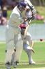 05 Nov 2000: Jason Arnberger of Victoria in action while Matthew Anderson of Queensland looks on during the Pura Cup match between Queensland and Victoria played at Allan Border Field in Brisbane, Australia.