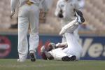 09 Nov 2000: Kerry Jeremy for the West Indies is hit by a ball from Matthew Nicholson for Western Australia in the match between the Western Warriors and the West Indies at the WACA ground in Perth, Australia.Jeremy retired hurt on 7 runs