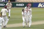 09 Nov 2000: Mike Hussey and Gavin Swan for the Western Warriors celebrate Swan getting the wicket of Dillon for a duck in the match between the Western Warriors and the West Indies at the WACA ground in Perth, Australia.