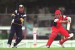 12 Nov 2000: Chris Davies of South Australia plays a late cut on his way to scoring 62 runs in their six wicket victory over Victoria, in the Mercantile Mutual Cup cricket match played at Punt Road Oval, Melbourne, Australia.