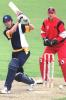 12 Nov 2000: Ben Oliver of Victoria plays a mistimed drive and is caught by Darren Lehmann off the bowling of Johnson for 7 runs, in their six wicket loss to South Australia, in the Mercantile Mutual Cup cricket match played at Punt Road Oval, Melbourne, Australia.
