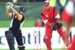 12 Nov 2000: Shawn Craig of Victoria plays a mistimed drive during his innings of 28 runs, in their six wicket loss to South Australia, in the Mercantile Mutual Cup cricket match played at Punt Road Oval, Melbourne, Australia.