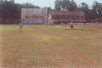 Fayaz Ahmed plays a forward defensive stroke to a Yalvigi delivery from the police quarters end, Ranji Trophy South Zone League, 2000/01, Karnataka v Andhra, Union Gymkhana Ground, Belgaum, 15-18 November 2000 (Day 1).