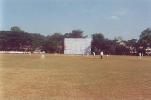 Ganesh to LNP Reddy from the police quarters end, Ranji Trophy South Zone League, 2000/01, Karnataka v Andhra, Union Gymkhana Ground, Belgaum, 15-18 November 2000 (Day 1).