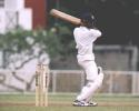 Marvan Atapattu cuts off the back foot in the match between SCC and Police SC