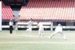 Dinesh Rao tries to flick the ball from Chandran, Ranji Trophy South Zone League, 2000/01, Kerala v Goa, Nehru Stadium, Kochi, 15-18 November 2000.