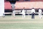 Renjith Menon about to deliver the ball to A Bhagwat, Ranji Trophy South Zone League, 2000/01, Kerala v Goa, Nehru Stadium, Kochi, 15-18 November 2000.