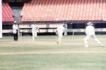 Renjith Menon is delighted as he cleaned up N Kalekar, Ranji Trophy South Zone League, 2000/01, Kerala v Goa, Nehru Stadium, Kochi, 15-18 November 2000.