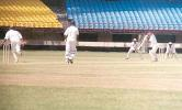 A Kudua places the ball to the off side from the bowling of Aware, Ranji Trophy South Zone League, 2000/01, Kerala v Goa, Nehru Stadium, Kochi, 15-18 November 2000.