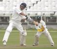 Andrew Puttick cuts a ball against North West at Newlands on Friday